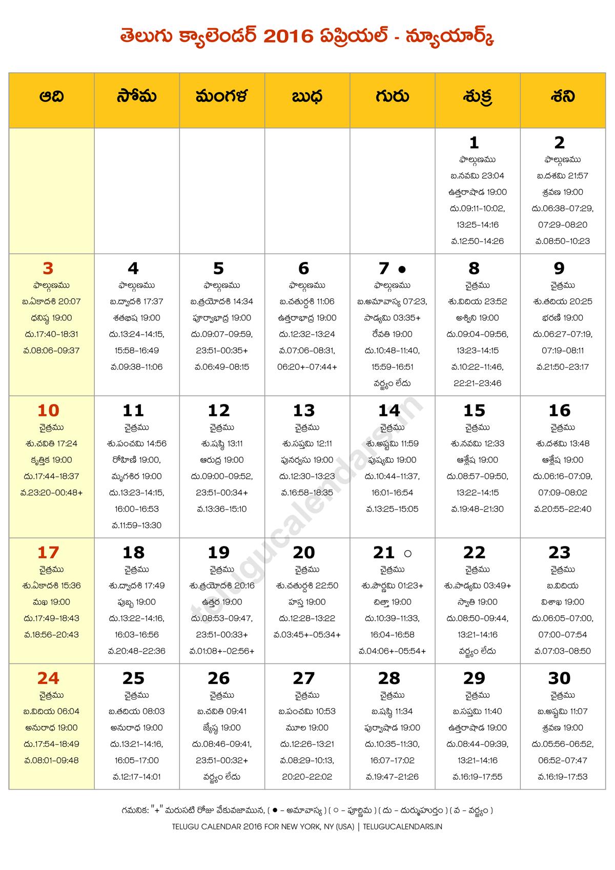 Calendar New York April : Telugu calendar new york usa april pdf