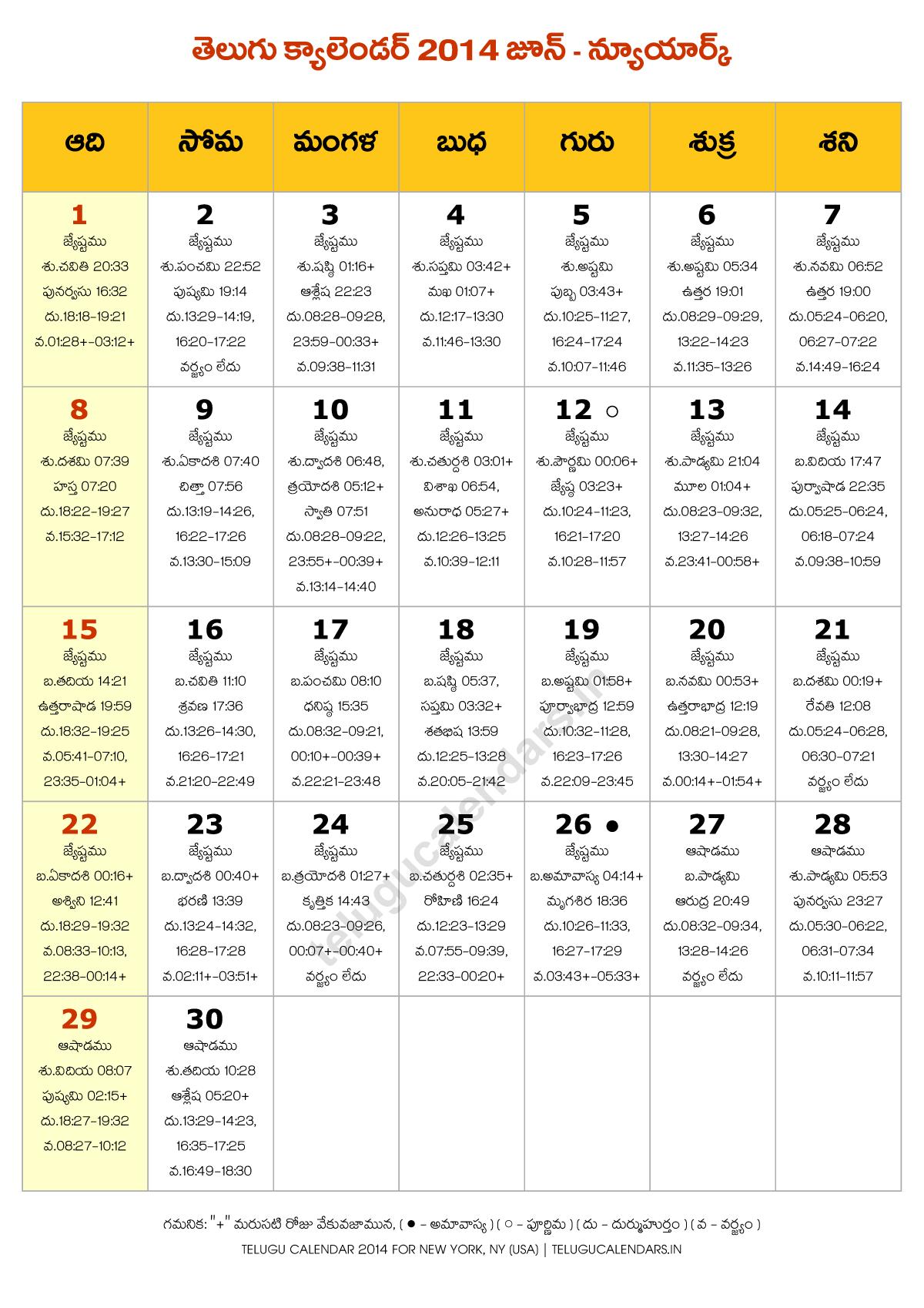 June Telugu Calendar : Telugu calendar new york june pdf calendars